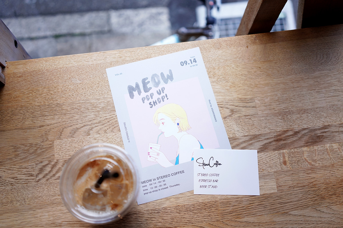 MEOW pop up shop illust by