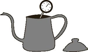 お湯をコーヒーポットへ