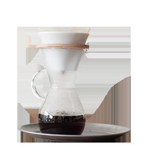iwaki『SNOW TOP』シリーズのコーヒーカラフェ & ドリッパーセット