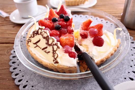 キルフェボンのクリスマスケーキ ブルターニュ産「ル ガール」クリームチーズムースのタルト 19cm