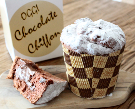 OGGI(オッジ)の限定チョコレートシフォンケーキ