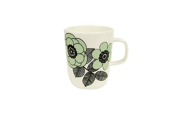 marimekko(マリメッコ) KESTIT柄 グリーンマグカップ