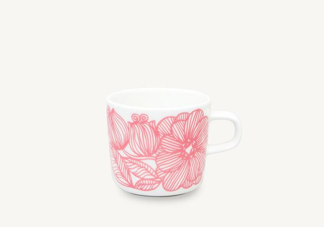 marimekko(マリメッコ)Kurjenpolvi ピンク コーヒーカップ 200ml