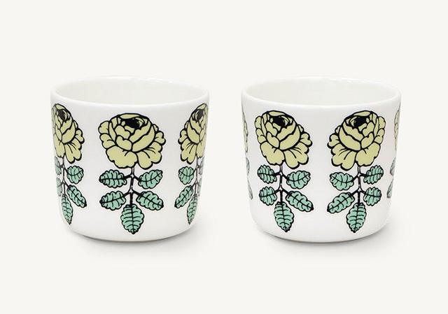 marimekko(マリメッコ)Vihkiruusu コーヒカップ(ラテマグ)ライトグリーン