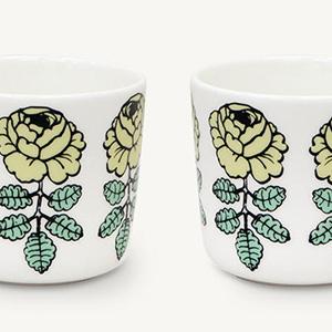 マリメッコ、人気『Vihkiruusu(ヴィヒキルース)』のコーヒカップに日本限定ライトグリーンが登場です!