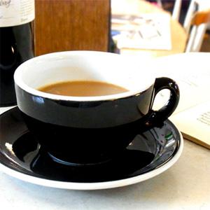 イタリア製『ACF』のカップ&ソーサー  [ブラウン・ホワイト・ブラック]
