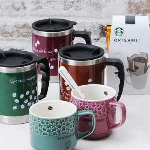 スタバ(オリガミ) × Afternoon Tea(アフタヌーンティー)陶器マグカップ&ステンレスマグカップ