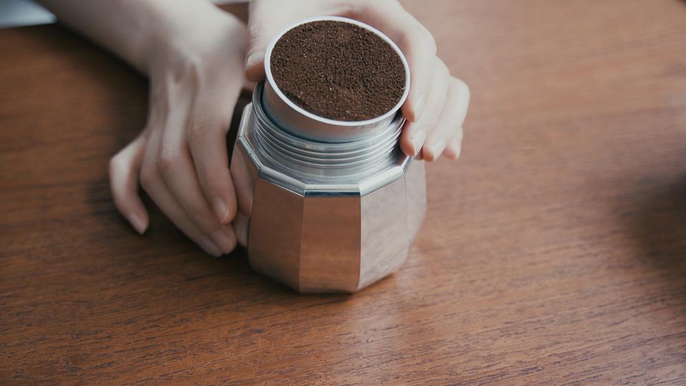 ALESSI(アレッシィ) MOKAエスプレッソコーヒーメーカー コーヒー粉セット