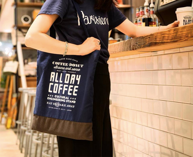 ALL DAY COFFEEのエコトート、かわいい!