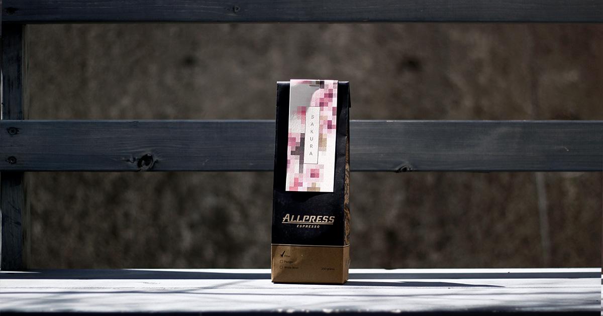 ニュージーランド発オールプレス・エスプレッソ  限定コーヒー豆『SAKURA』