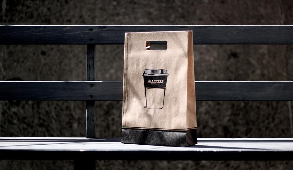 ニュージーランド発 オールプレス・エスプレッソ 紙袋