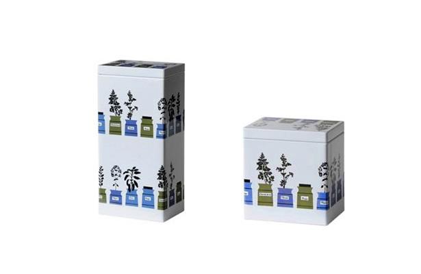 アルメダールス ハーブポット コーヒー缶・紅茶缶