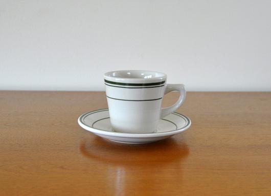 AMERICAN DINER WEAR(アメリカンダイナーウェア)のコーヒーカップ&ソーサー グリーン
