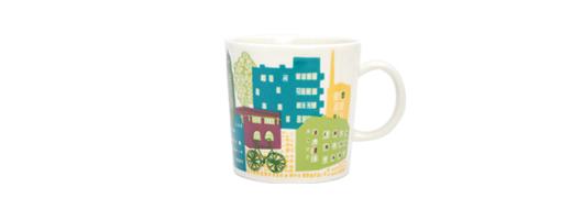 2012年限定 ARABIA(アラビア)Home Town Mug(ホームタウン マグ)ダウンタウン