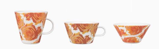 ARABIA (アラビア) KOKO(ココ)ローズのマグカップ・カップ・ボウル オレンジ