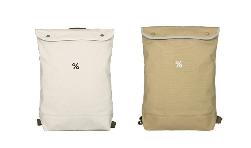 %アラビカ Backpack S/L Beige/White