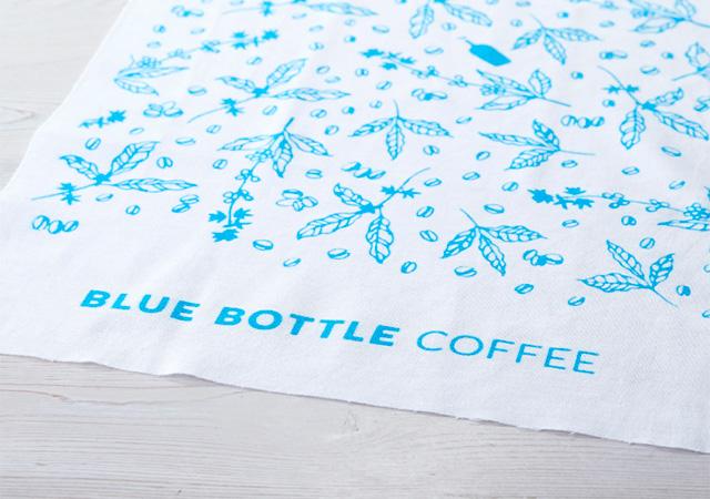 ブルーボトルコーヒー オリジナル手ぬぐい Blue&White