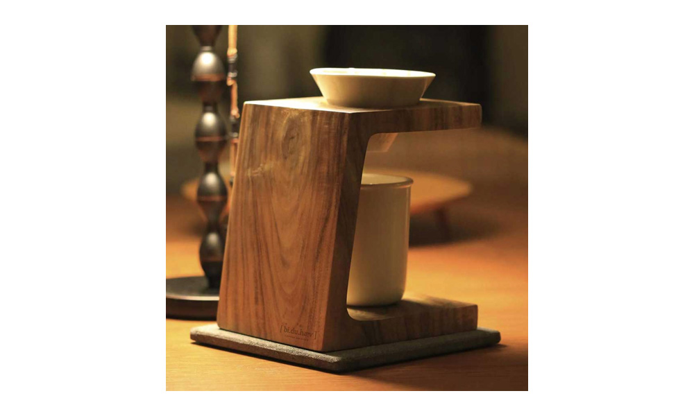 bi.du.haev WoodenCarve coffee stand ウーデンカーブコーヒースタンド