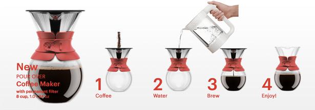 Bodum(ボダム)ドリップ式コーヒーメーカー『POUR OVER COFFEE MAKER』