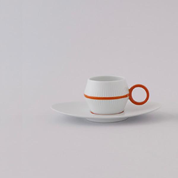 ミナ ペルホネン【beads】のカップ&ソーサーにラインタイプが登場してる。