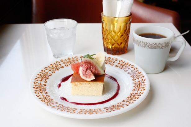 haguru cafe ケーキセット『スフレチーズケーキ』