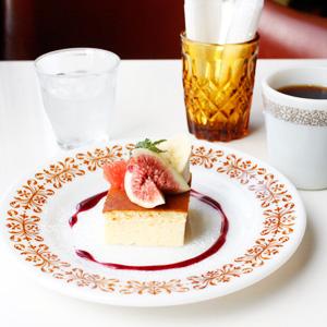 福岡・大橋にある『haguru cafe』でスフレチーズケーキとコーヒーを。
