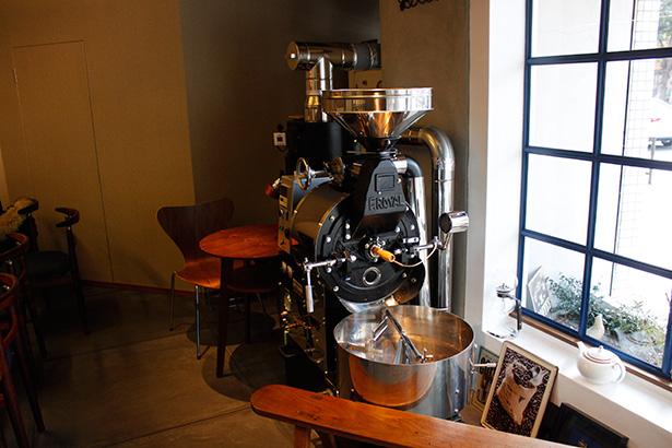 福岡・高宮 ツバクロコーヒー 焙煎機