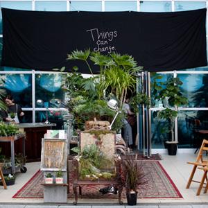 BASKING COFFEE(バスキングコーヒー)でのコーヒーと植物のイベント『Things can change』に行って来ました。