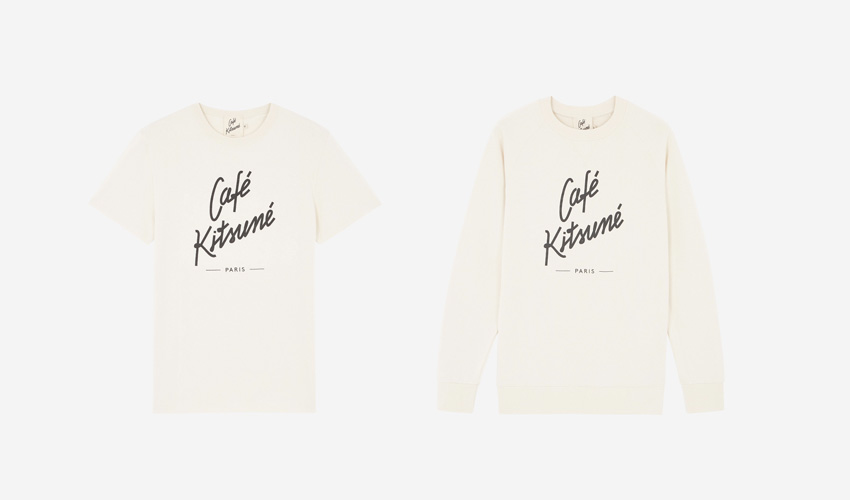 The Café Kitsuné コットン Tシャツ/コットンキルトのトレーナー