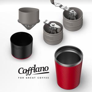 持ち運べるミル付きコーヒーメーカー、Cafflano Klassic(カフラーノ クラシック)