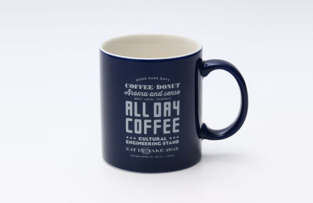ALL DAY COFFEE マグカップネイビー
