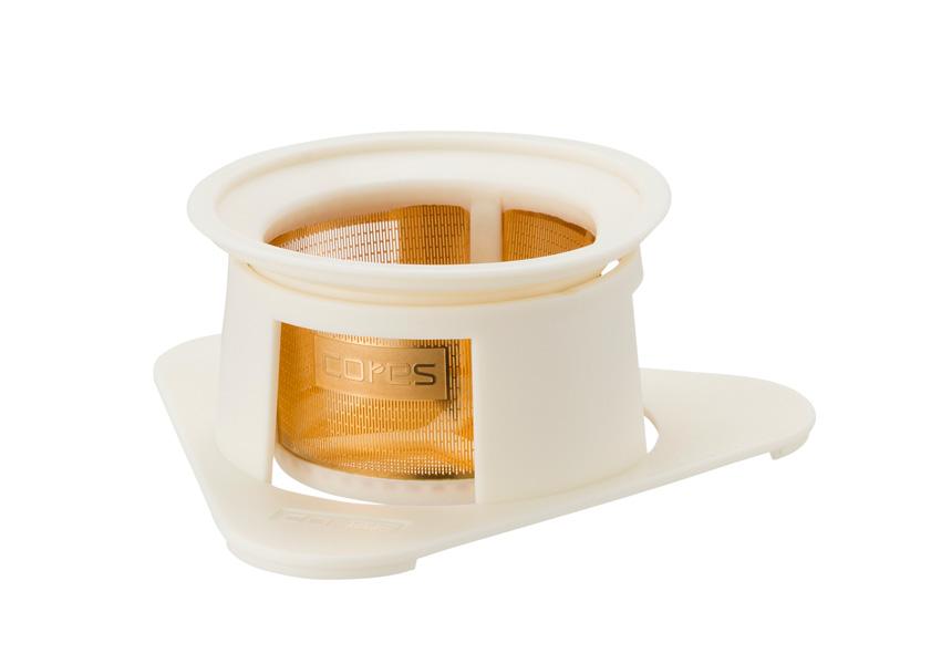 cores/コレス シングルカップゴールドフィルター フラワーホワイト