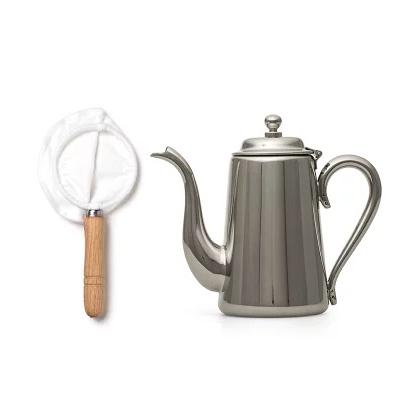 大坊珈琲のコーヒーポットとネルフィルター
