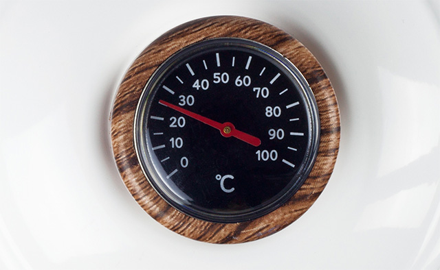deviceSTYLE(デバイスタイル) アナログ型温度計付電気ケトル『KA-800C』