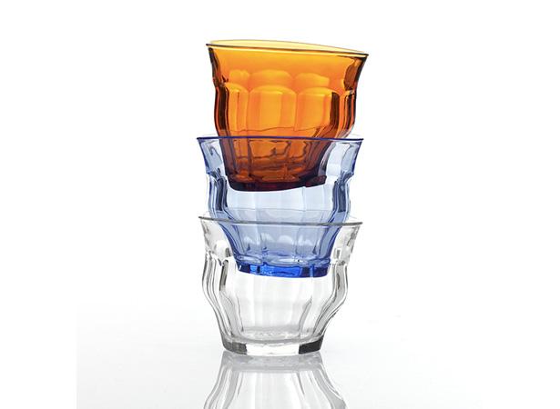 Duralex(デュラレックス)ピカルディーのTIPSY GLASS クリア・ブルー・アンバー