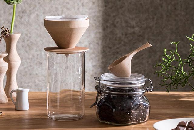 eN コーヒーメジャースプーン・ウッドコーヒードリッパー