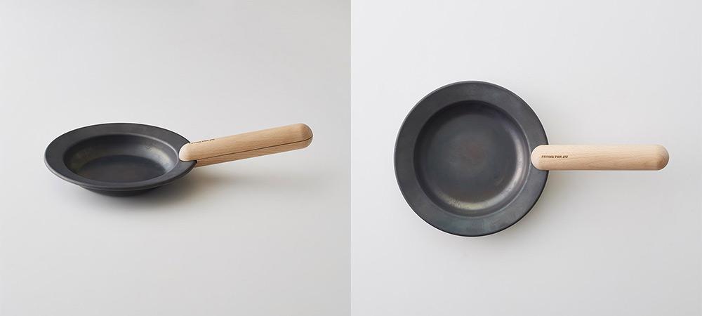 IO フライパンジュウ&ハンドルセット Mサイズ /ウォルナット(クルミ材) 鉄フライパン