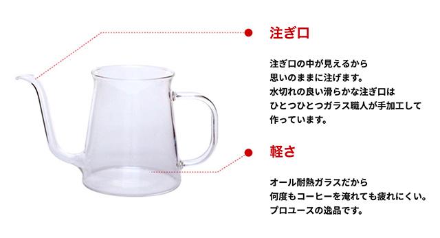 HARIO(ハリオ)Glass Drip Kettle ガラスドリップケトル