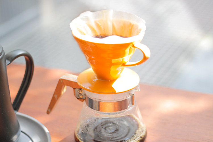 セラミックコーヒードリッパー02 蜜柑(イルカナオレンジ)