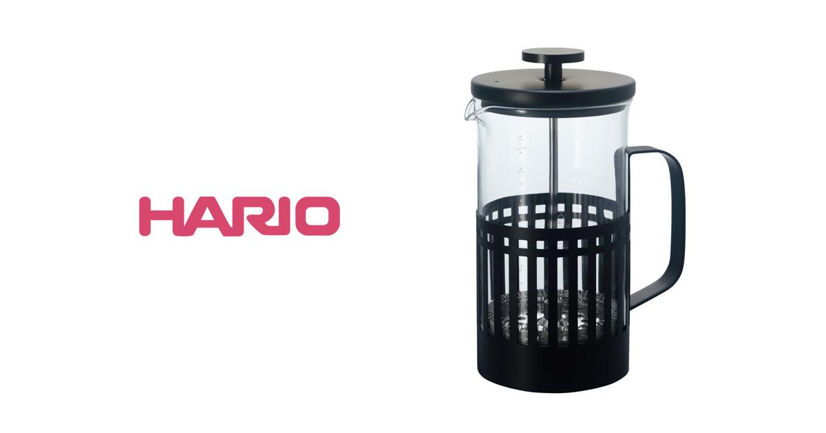 HARIO、マットブラックシリーズに  コーヒープレス『ハリオール・ノアール』が登場。