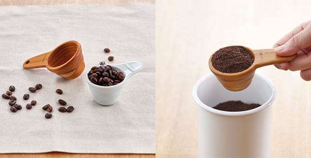 ハリオのコーヒーメジャースプーンに、木製『V60計量スプーン Wood』と陶器製『V60計量スプーン セラミック』が登場です。