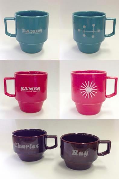 映画『ふたりのイームズ』と老舗ショップ「Mid-Century MODERN」、陶磁器ブランド「HASAMI」のコラボ・マグカップ