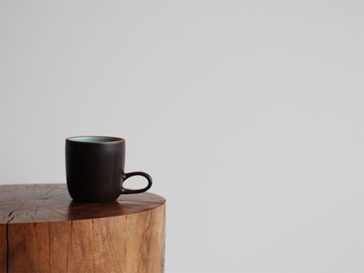 Heath Ceramics(ヒースセラミック)Studio Mug(スタジオマグ) アクア・チョコレートブラウン