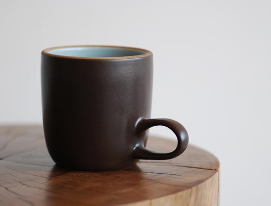 Heath Ceramics(ヒースセラミック)Studio Mug(スタジオマグ)アクア・チョコレートブラウン