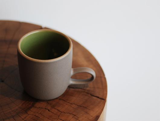 Heath Ceramics(ヒースセラミック)Studio Mug(スタジオマグ)グリーン・ココア