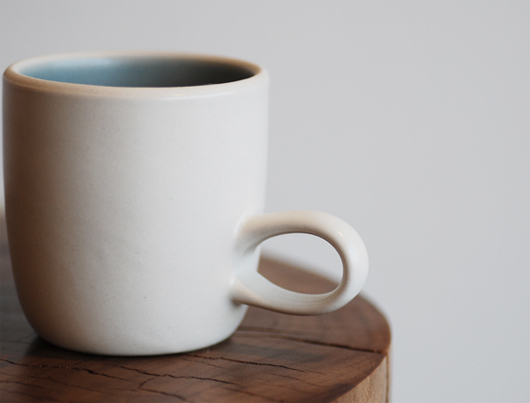 Heath Ceramics(ヒースセラミック)Studio Mug(スタジオマグ)ブルー・ホワイト