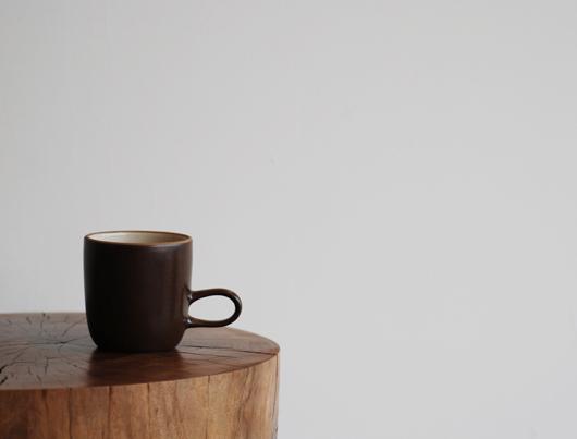 Heath Ceramics(ヒースセラミック)Studio Mug(スタジオマグ)ベージュ・チョコレートブラウン