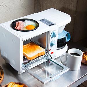 映画みたい!朝食セットができるトースト付コーヒーメーカー『3WAYモーニングセットメーカー』