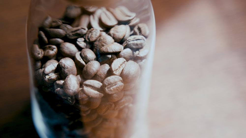 コーヒーの保存 光