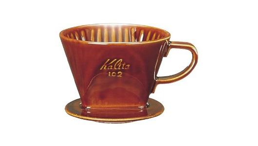 Kalita(カリタ)陶器ドリッパー ロト ブラウン